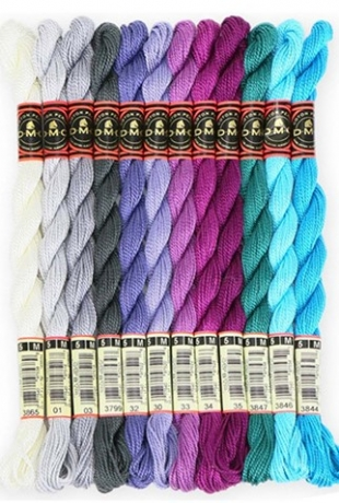 "DMC Perle 5 Cotton Ball Colour Purple /""208/"""
