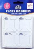 DMC Cardboard Floss Bobbins ~ package of 56