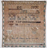 Abra Lowney 1825 Sampler from Erica Michaels Designs ~ Nashville 2019