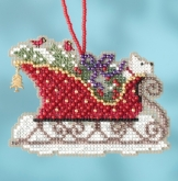 Evergreen Sleigh (2017) from Mill Hill Charmed Ornament Kit