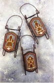 Bread (Gingerbread) Sled Ornaments from Foxwood Crossings