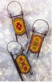 Quaker Sleds Ornament Sleds from Foxwood Crossings ~ 1 only!