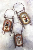 Snow Grateful Ornament Sleds from Foxwood Crossings ~ 1 only!