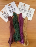 Fibers to Dye For / Amy Mitten Designs Hand Dyed Silk Thread Collector Program