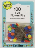 Flat Flower Pins from Collins ~ 100 per package