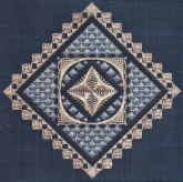 Diamonds and Lace from Freda's Fancy Stitching
