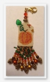 Pumpkins & Pinecones Peyote Beaded Scissor Fob kit from Fern Ridge Collections