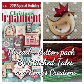 Christmas Crowned Bird ~ Button & Thread pack for GPA Designs in JCS Ornaments 2015