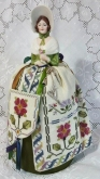 Elizabeth ~ A Sampler Doll Pincushion Maiden chart from Giulia Punti Antichi