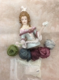 Maria Teresa Porcelain Half Doll for Giulia Punti Antichi's Maria Teresa Pin Cushion doll design