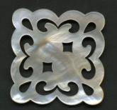 Mother of Pearl Thread Winder from Giulia Punti Antichi / GPA Designs