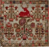 The Red Deer Sampler 1861 - 1866 ~ Reproduction Sampler from Gigi R Designs