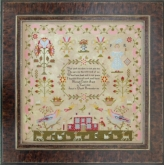 Hannah Coates 1848 Reproduction Sampler from Hands Across the Sea Samplers