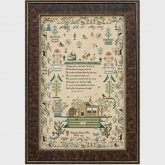 Elizabeth Beaven 1835 Reproduction Sampler from Hands Across the Sea Sampler