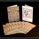 Greeting Cards ~ Elizabeth Furniss ~ Pkg of 10 with Envelopes from Hands Across the Sea Samplers ~ 2