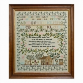 Sarah Borton 1815 ~ Reproduction Sampler from Hands Across the Sea Samplers