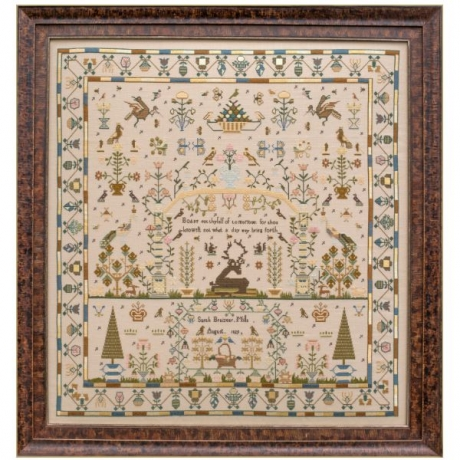 Sarah Braizear 1829 Limited Edition Sampler From Hands Across The