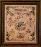 Anne Thomas 1854 from Hands Across the Sea Samplers