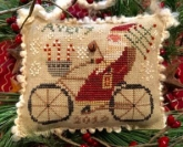 Avery's Cycling Santa ~ Merry Noel Collection from Homespun Elegance