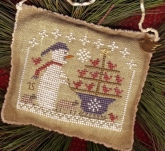 Snow Birds in Tow - Snowman Ornament  ~  2015 Annual Christmas Ornament/Homespun Elegance