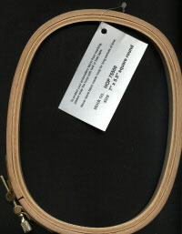 """7/"""" x 5.5/"""" Square//Round HARDWICKE Wooden Embroidery Hoops"""