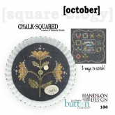 October ~ Chalk Squared ~ A Series of Calendar Florals from Hands on Design/Just Another Button Co.