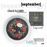 September ~ Chalk Squared ~ A Series of Calendar Florals from Hands on Design/Just Another Button Co