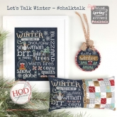 Let's Talk Winter ~ Chalk Talk series from Hands On Design