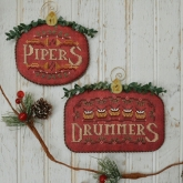 Pipers & Drummers ~ #6 of 12 Days Ornament Series from Hands on Design