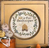 B is for Beekeeper ~ Alphabet Series #5 from Heartstring Samplery
