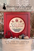 V is for Valentine ~ The Alphabet Series #7 from Heartstring Samplery