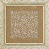 Damask Square from Ink Circles
