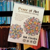 Peace of Art Coloring Book from Ink Circles ~ Save 25%!
