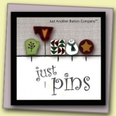 Pine Tree Just Pins set from Just Another Button Company ~ set of 5