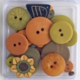 Autumn Squash ~ Flavor Packs Hand Dyed Buttons from Just Another Button Co.