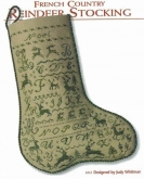 French Country Reindeer Stocking from JBW Designs ~ 1 only!