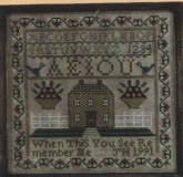 The Little Brick House Sampler Kit by Joanne Harvey of the Examplarery