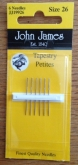 John James Tapestry Petite Needles ~ sizes #22, #24, #26, #28