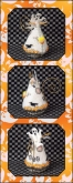 Candy Corn Ghost Mouse chart & embellishments ~ Limited Edition Ornament from Just Nan
