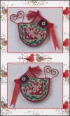 Cardinal Tweet chart & embellishments ~ Limited Edition Ornament from Just Nan