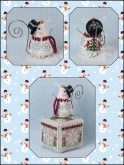 Frosty Chillingsworth Mouse chart & embellishments ~ Ltd Ed. Ornament ~ Just Nan