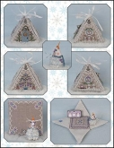Frosty Winter Mouse in a House chart & embellishments from Just Nan
