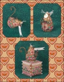 Gingerbread Angel Mouse chart & embellishments ~ Limited Edition Ornament from Just Nan