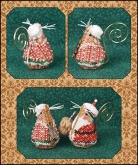 Gingerbread Mrs. Santa Mouse chart & embellishments from Just Nan