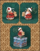 Gingerbread Santa Mouse chart & embellishments ~ Limited Edition Ornament from Just Nan