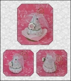 Juliet the Bride Mouse chart & embellishments ~ Limited Edition Ornament from Just Nan