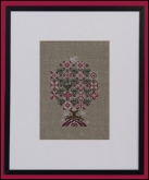 Peppermint Snowflakes Tree chart & embellishments from Just Nan ~ 1 only!
