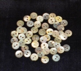 Mini-Round Mother of Pearl Buttons from Kelmscott Designs package of 130