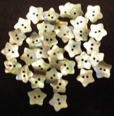 Mini-Stars Mother of Pearl Buttons ~ Package of 30 from Kelmscott Designs