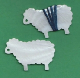 Ewe Mother of Pearl Thread Winders ~ Package of 2 from Kelmscott Designs